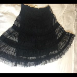 MAX STUDIO Women Sz Medium Black Lace Circle Skirt